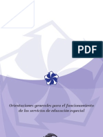 Orientaciones Generales para el Funcionamiento de los Servicios de Educación Especial