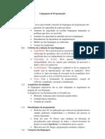 Linguagens de Programação - Resumo