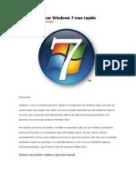 Truco Para Hacer Windows 7 Mas Rapido