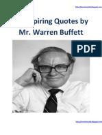 25 Inspiring Quotes by Mr Warren Buffett