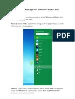 Como ativar o modo de segurança no Windows 8