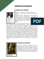 Presidentes de Honduras