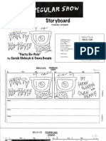 "Regular Show - ""Party Re-Pete"" Pitch Board"