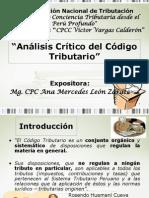 Analisis Criticos Del Codigo Tributario