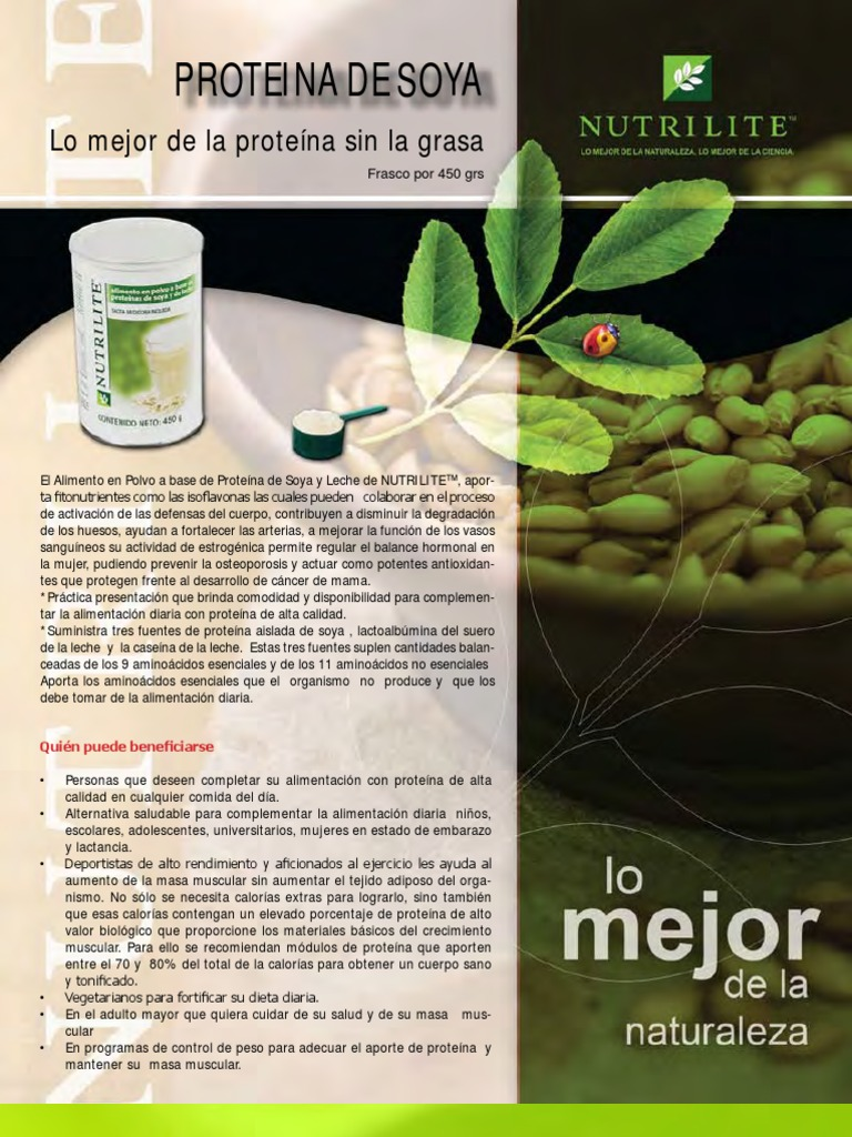 proteina de soja propiedades