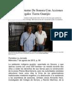 Obtiene Gobierno De Sonora Con Acciones Ilegales Tierra Guarijío
