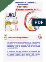 Pres CLindley Reducción de Mermas de Co2 en producción de gaseosas Callao 2006