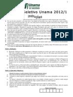 Unama 2012 0 Prova Completa c Gabarito