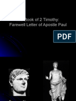 Lessons From 2 Timothy, Paul's Farewell Letter to His Disciple