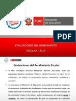 Evaluaciones 2013