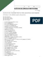 Lista de Exerc%C3%ADcios de L%C3%ADngua Portuguesa (Professora - Cristina) 8%C2%B0 a - Unidade I