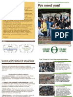 Ecology Ottawa Community Network Pamphlet