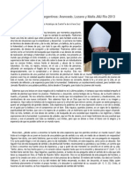 Catequesis de Obispos Argentinos JMJ 2013