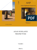 Asian Highlands Perspectives  Volume One