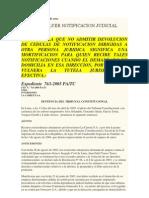 Tc-Accion de Amparo- Devolucion de Notificaciones