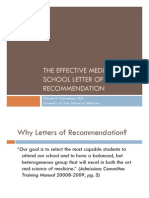 Effective Med School Letter