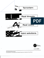 FO B3 Public Hearing 11-19-03 2 of 2 Fdr- June 2003 Business Roundtable- Terrorism- Real Threats- Real Costs- Joint Solutions- Table of Contents and Exec Summary (Total in Folder) 665