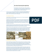 Some Information About Quarrying That Might Help