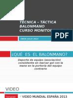 TÉCNICA – TÁCTICA BALONMANO (Nivel 1) (1)