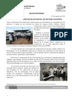 07/08/13 Germán Tenorio Vasconcelos supervisa Hospital de San Pablo Huixtepec