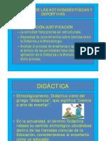 DIDÁCTICA DE LAS ACTIVIDADES FÍSICAS