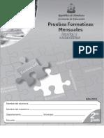 Prueba Formativa 2º ESP y MAT (2010)