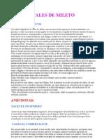 Tales de Mileto Biografia y Anecdotas
