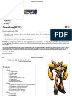 Bumblebee (WFC) - Transformers Wiki
