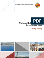 Tonga National Infrastructure Investment Plan - Main and Annexes