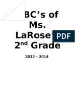 ABCs of 2nd Grade 2012 - 2013