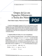 Grupos de Lie em Equações Diferenciais e Teoria dos Números