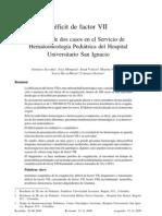 Deficit de factor VII. Pág. 86-93