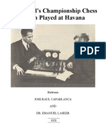Capablanca - Lasker Match 1921 [Capablanca, 1921]