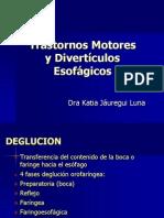 Trastornos Motores y Diverticulos Esofagicos