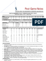 08.07.13 Post-Game Notes