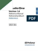 Studio One 1.6 - Reference Manual Addendum