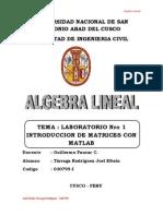 Algebra Lineal - Laboratorio Nro 1