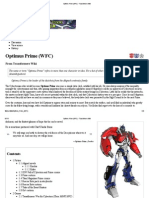Optimus Prime (WFC) - Transformers Wiki