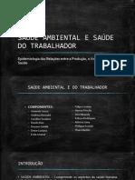 SAÚDE AMBIENTAL E DO TRABALHADOR