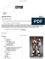 Ratchet (WFC) - Transformers Wiki