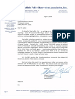 Buffalo PBA letter to District Attorney Frank Sedita re