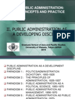 Public Administration as a Developing Discipline