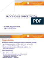 Proceso de Importacion, Intercoms, Aduana