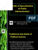 Field of Specialization of Public Administration