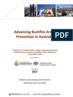 Advancing bushfire arson prevention in Australia