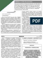 Proyecto de Decreto Supremo Moviles 2013-07-05