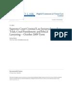 Supreme Court Criminal Law Jurisprudence- Fair Trials, Cruel Puni