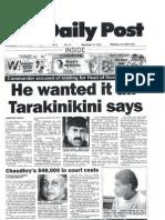 col tarakinikinis statement