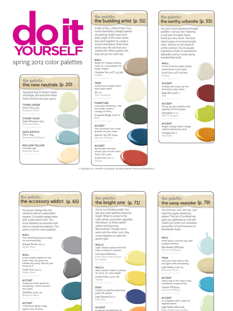 Diy Palettes 12 Download Yellow Color
