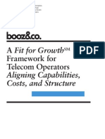 BoozCo a Fit for Growth Framework for Telecom Operators